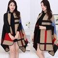 2016 New Design Winter Women's Scarf Especially Cuff Lady Knit Long Shawl Cape Cashmere Warm Scarf Poncho M177