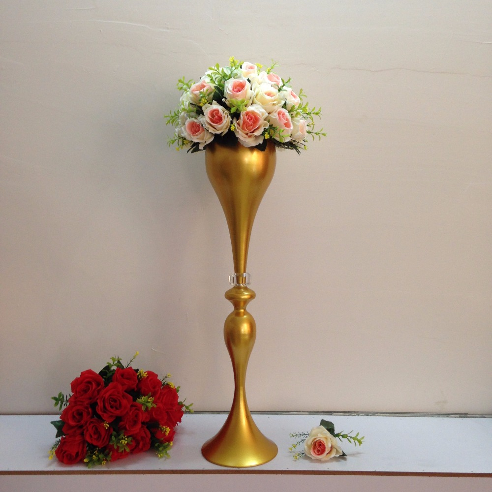 2017 New Style 70cm 275 Gold Wedding Flower Vase Wedding Table