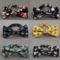 Estilo britânico Gravata borboleta Gravata Do Noivo Do Casamento Da Flor Do Vintage Impressão Floral Magro Skinny Bowtie Cravat Bowtie Partido