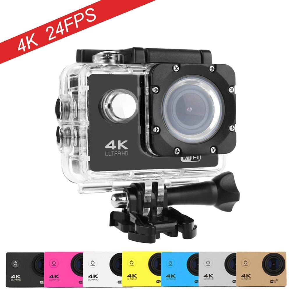 Goldfox 4 k wifi acción cámara impermeable del casco de la videocámara 130 grado