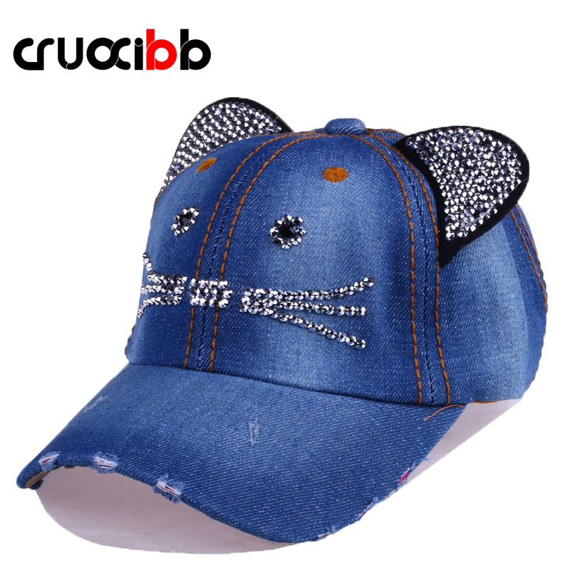CRUOXIBB Unisex Baseball Cap Denim Kids Cat Ears Pokemon Sun Cowboy Hat Snapback Cap for Boy Girls Casquette Casual Bone Gorro dongpad 10 1 inch metal case tablet phone call 3g 1280 800 tablets pc android 5 1 gps octa core 4gb ram 32gb rom wifi fm ips lcd