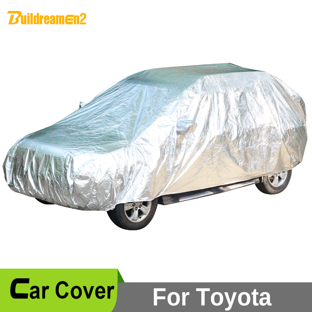 Buildreamen2 Waterproof Car Cover Sun Rain Hail Snow Protective All Weather Cover For Toyota Prado Land Cruiser Wish 4 Runner buildreamen2 car cover waterproof suv anti uv sun shield snow hail rain dust protective cover for gmc terrain acadia envoy yukon