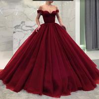 Burgundy Royal Blue Quinceanera Dresses Purple Ball Gown Off The Shoulder Floor Length Vestidos De 15 Anos Elegant Prom Dresses