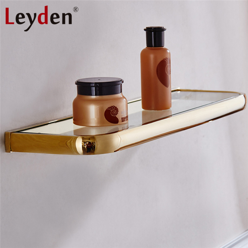 Leyden Hot Glass Shelf Rack Bath Shelf ORB/ Antique Brass/ Gold ...