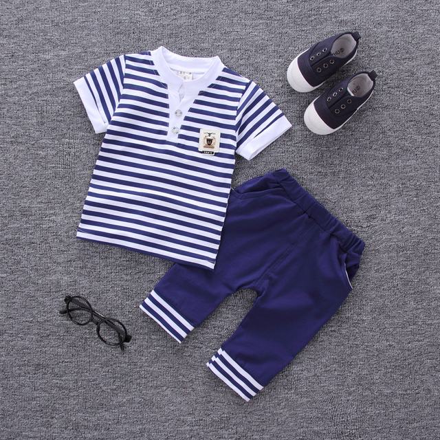 b7ff7c744bb0 2017 Summer New Fashion Baby Boys Clothes Set Cotton Material with ...