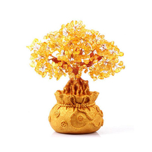Resin Chinese Modern Pure Handmade  Upscale Crystal Tree Art Sculpture Tea Ceremony Wine Cabinet Crafts Home Decoration Ornament