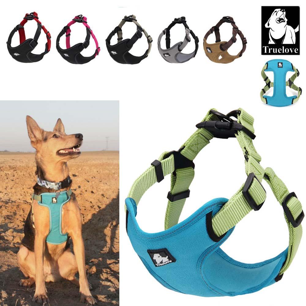 Truelove Padded Reflective Dog Harness Vest Pet Dog Step In Harness Adjustable No Pulling Pet Harnesses