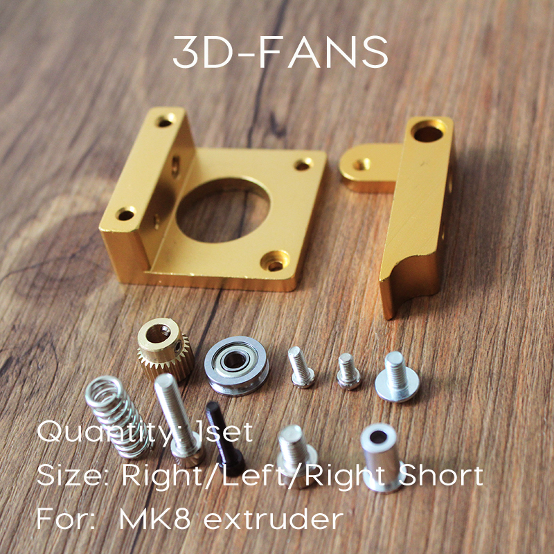 1Set 3D Printer makerbot MK8 Extruder Aluminum extrusion Frame Block DIY Kit for Reprap i3
