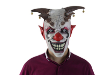Funny Adult Party Mask Latex Clown Cosplay Full Face Joker Mask Halloween Party Masquerade Costume Props halloween props deadpool mask eco friendly resin cosplay party mask full face 11 6 7 inch