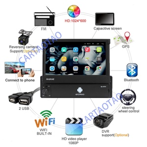 Image 3 - 1din Android 8.1 GO Quad Core Car DVD GPS Navigation Player 7 Universa Car Radio WiFi Bluetooth MP5 Multimedia Player
