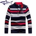 Marca Original Tace & Shark Camisola 2016 Nova Queda Homens inverno Camisola Homens Pullover Tarja Magro Ocasional dos homens Camisola 1653