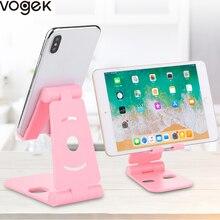 Vogek Foldable Plastic Phone Holder Stand Base For iPhone 7 8 plus X for Samsung S9 Candy Color Tablet Desk