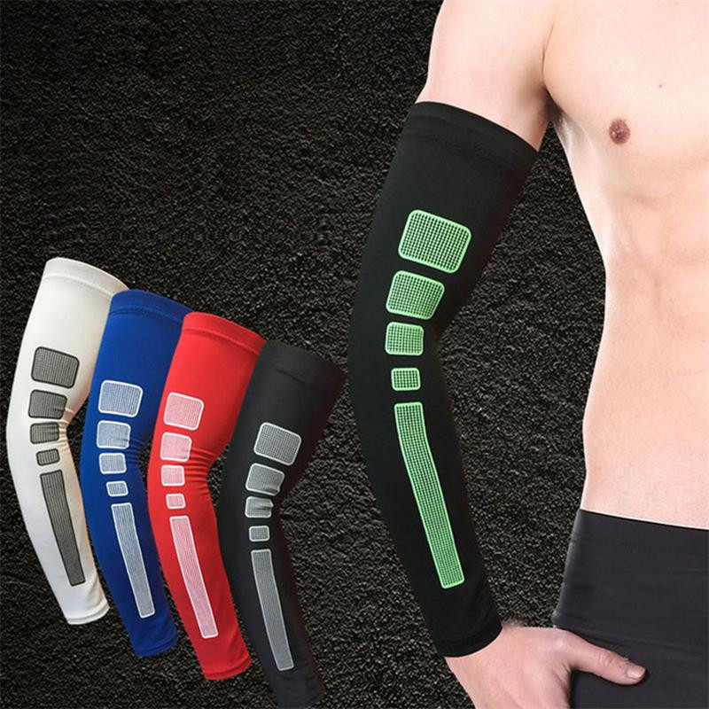 Könyök karját melegítő pad kerékpározás ellenálló szilikon kar ujjú kosárlabda karszalag sport könyök csukló elleni UV mandzsetta futó kar meleg A