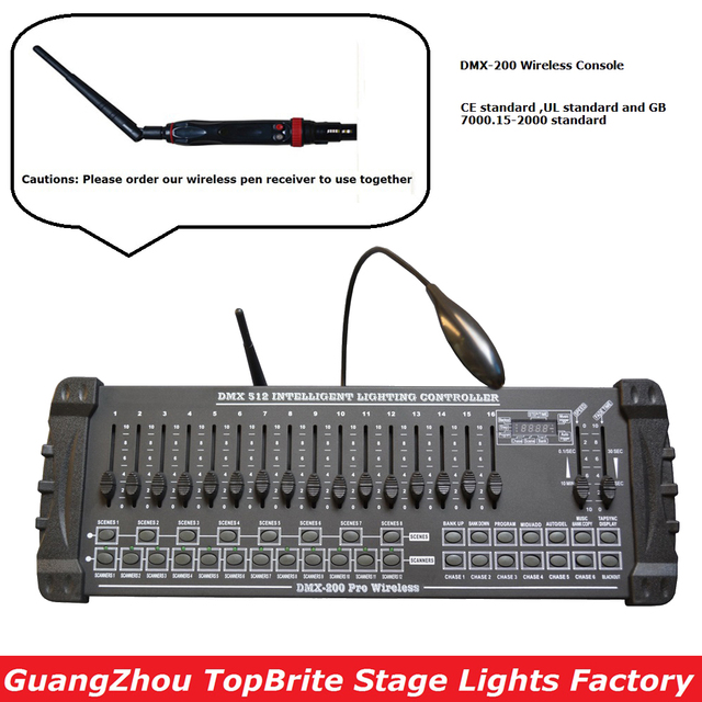 2020 Fast Shipping 1Pcs/Lot DMX 200 Wireless Controller DMX 512 DJ DMX Console Equipments For Stage Party Wedding Event Lighting