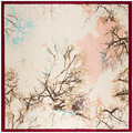New Style Autumn And Winter Fashion Women'S Scarves 90 Cm * 90 Cm Square Silk Scarf Hand Painted Branches Oil Painting Scarves