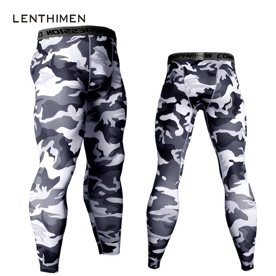 Mens Joggers Compression Pants Men Crossfit Pants Camouflage Army Skinny Leggings MMA GYMS Trousers Fitness Tights Sweatpants