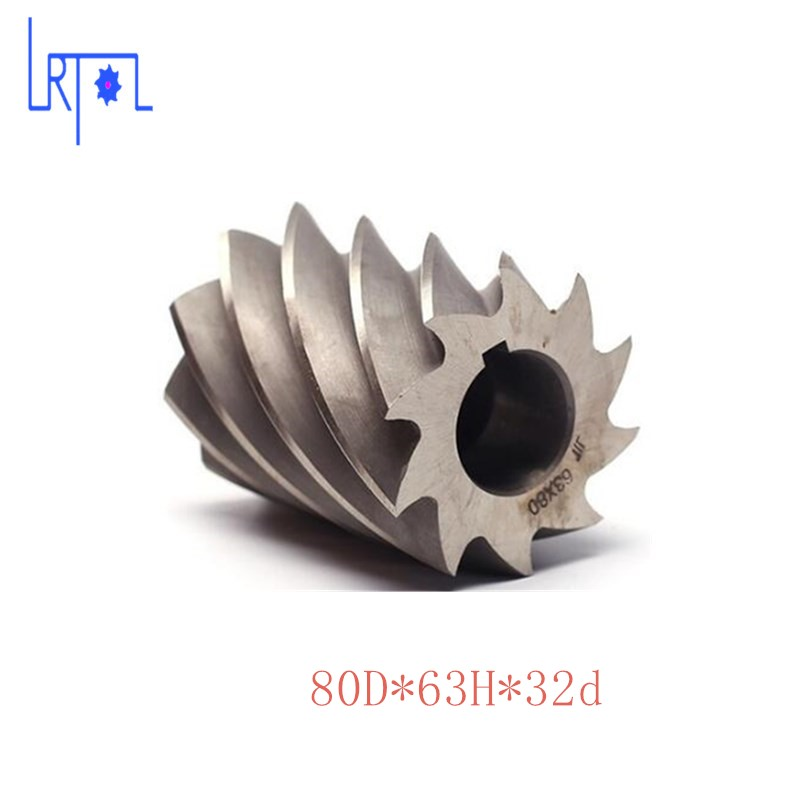 HHS Cylindrical milling cutter D80*d32*H63 Milling tool inner hole 32mm hhs cylindrical milling cutter d80 h80 d32 high speed steel milling tool