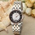 Brand Vintage Fashion Women Roman Number Business Statement Watches Full Steel Auto Mechanical Dress Wristwatch Calendar NW7194