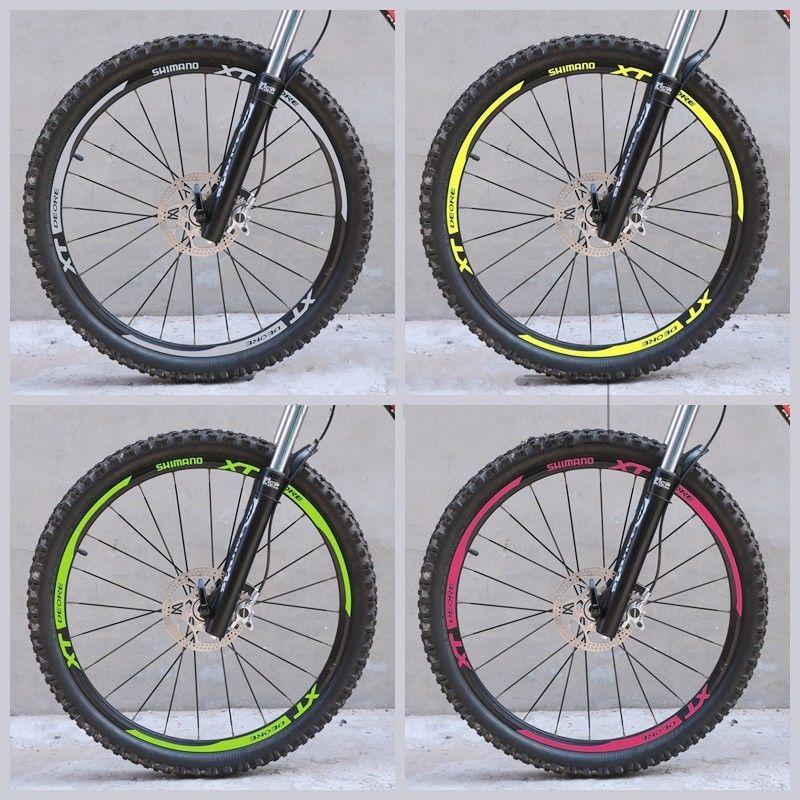 Roue jante autocollants VTT vtt vélo autocollants Pour SHIMANO XT M785 remplacement stickers