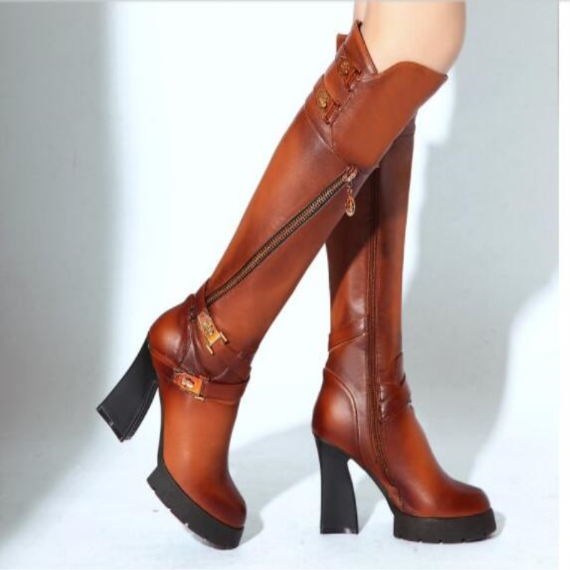 SHOFOO shoes,Elegant and beautiful free shipping, leather shoes,  knee-high boots,10 cm high heel boots. SIZE:34-39 numan akdogan and hartmut zabel origin of magnetism in oxide based diluted magnetic semiconductors