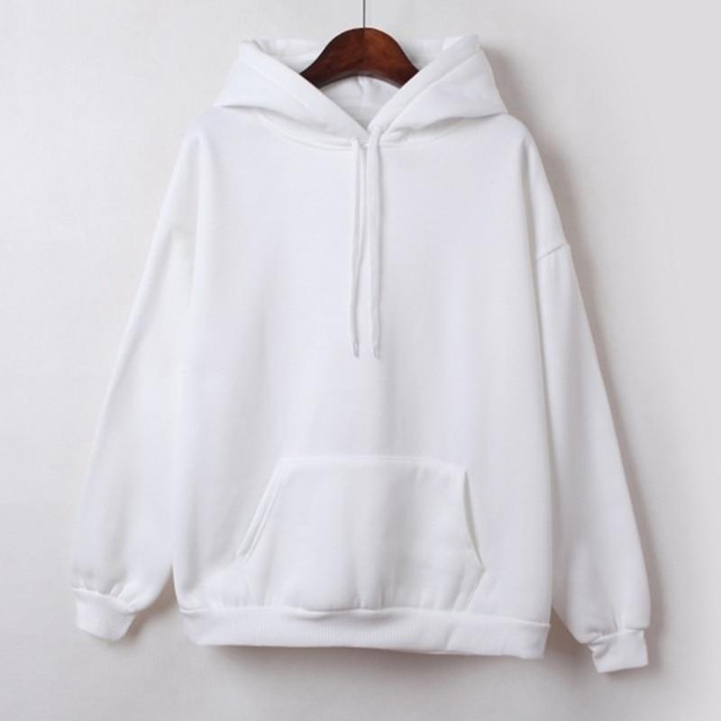 Hooded Tops Women's Sweatshirt Long-Sleeved Winter Velvet Thickening Coat 9