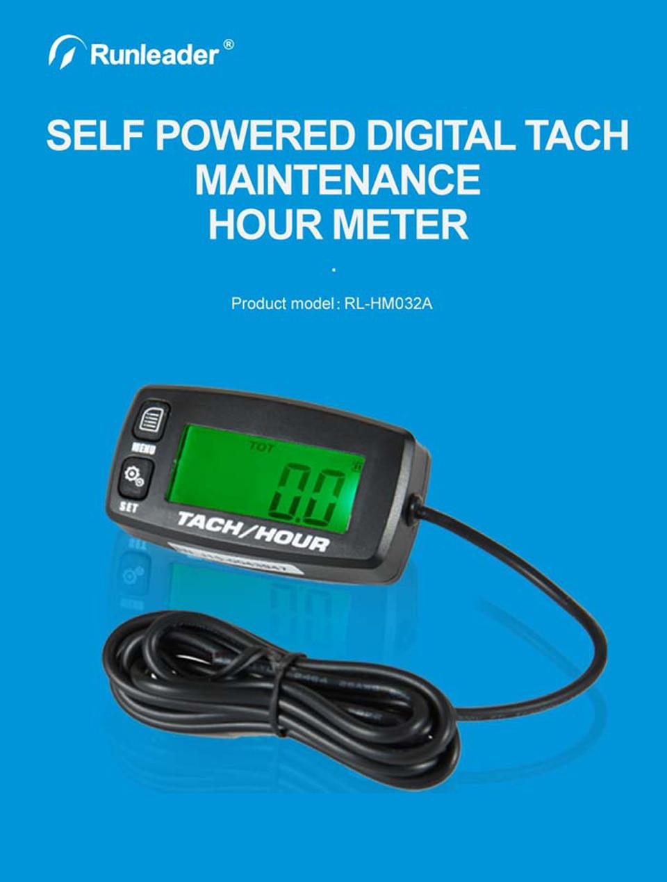 Waterproof digital LCD counter hour meter for motorcycle snowmobile marine HC