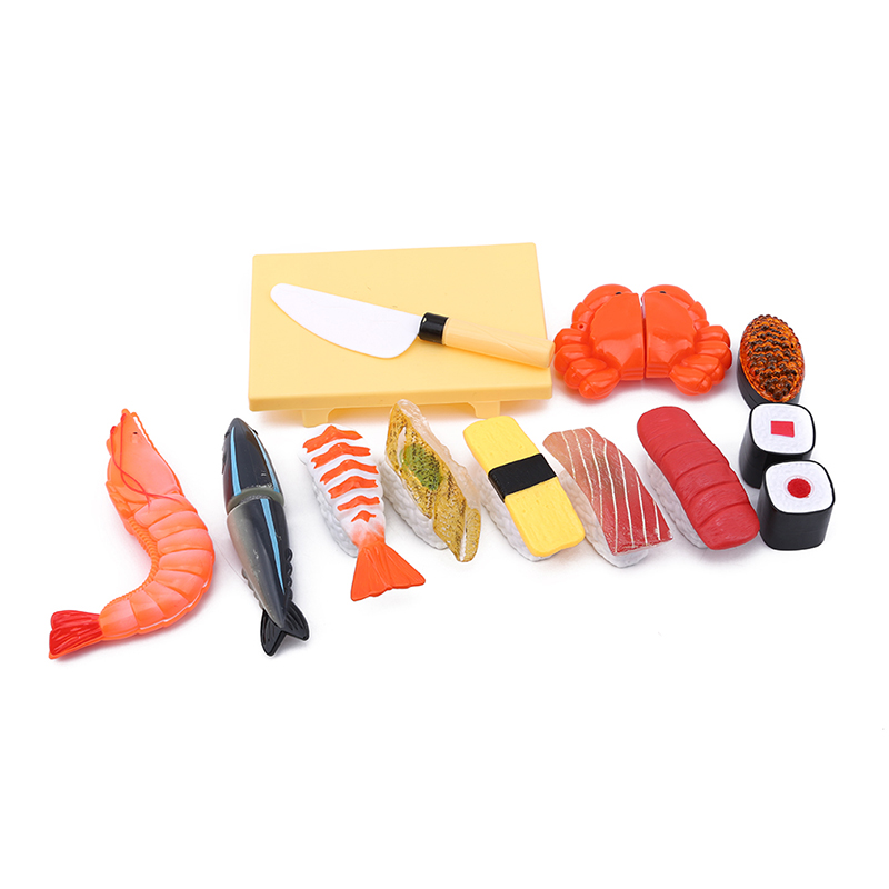 12 Pcs Colorful Plastic Food Toy Reusable Multiple Times Of Toy Micro-cut Sushi Kitchen Toys For Children