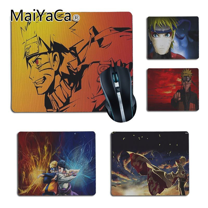 MaiYaCa Naruto Comfort small Mouse Mat Gaming Mouse pad Size 25x29cm 18x22cm Rubber Mousemats