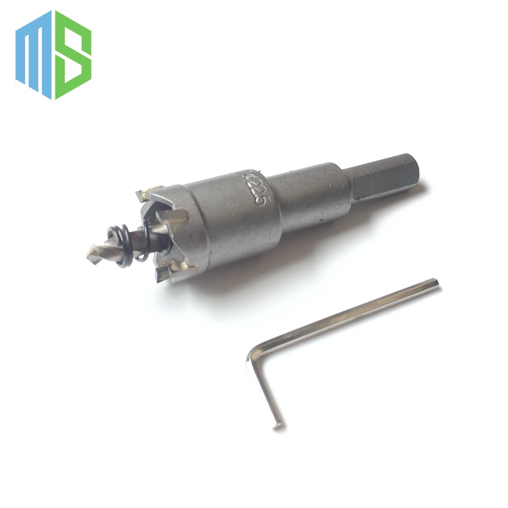 22.5mm Metalworking tungsten Carbide Tip Drill Bit TCT Hole Saw Set for Stainless Steel Metal Alloy Drilling