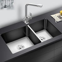 304 stainless steel sink double trough 4MM thickening sink stainless steel dish basin thickened kitchen table basin wx05031457