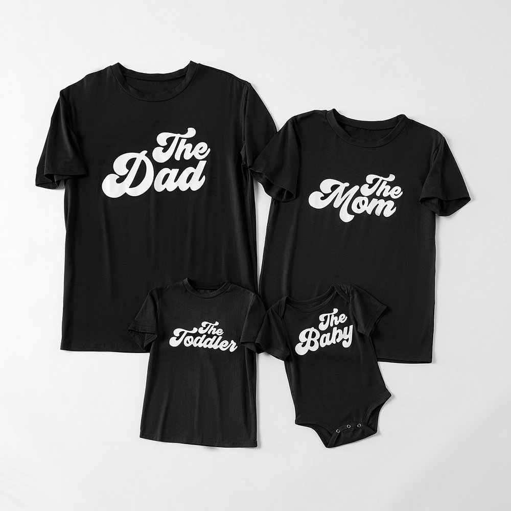พ่อลูกชายลูกสาว tshirt พ่อแม่เด็กวัยหัดเดิน Baby Girl Boy ครอบครัว Tops เสื้อผ้าแม่ลูกสาวการจับคู่ชุด T เสื้อ