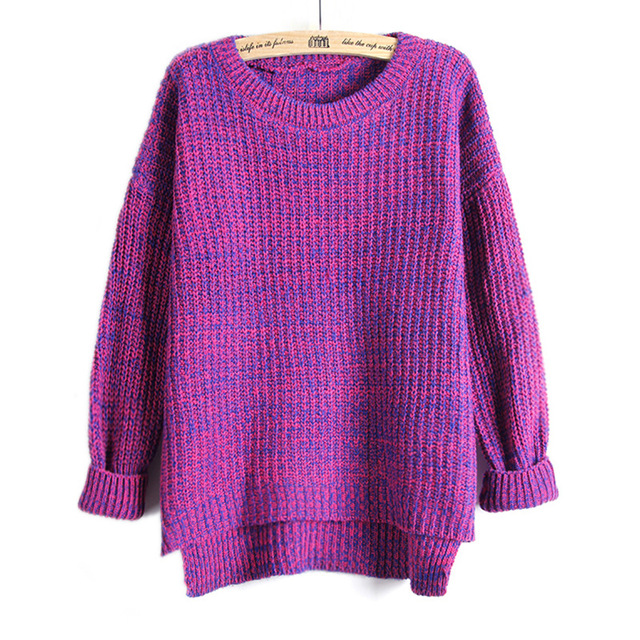 Aliexpress.com : Buy Women Oversized Jumper Thick Knitted Cardigan ...