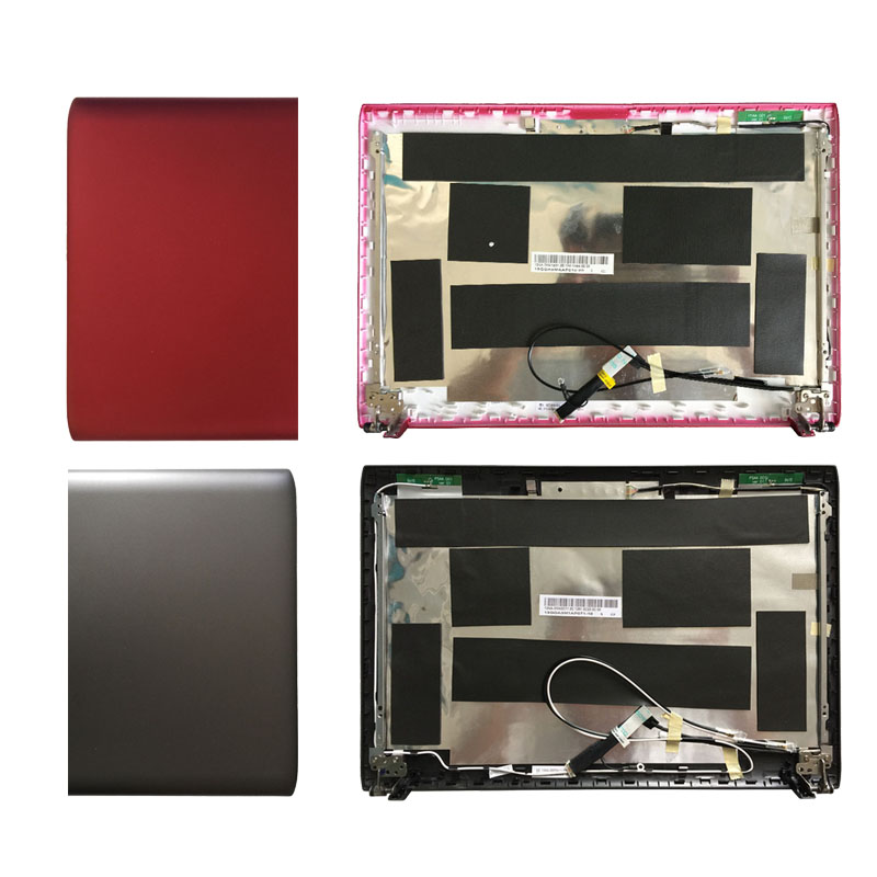 New Laptop LCD Top Screen Cover FOR Asus 1225B 1225E 1225C 1225 13GOA3MAAP010-10 with Hinges A shell Dark gray/white/red new laptop for asus a53t k53u k53b x53u k53t k53t k53 x53b k53ta k53z top lcd plamrst cover bottom cover hinges speaker jack