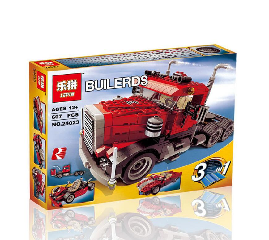 Lepin 24023 Creative Changing Series 3 in1 Truck Set Children Educational Building Blocks Bricks Toys Model Gift in stock lepin 02012 774pcs city series deepwater exploration vessel children educational building blocks bricks toys model gift