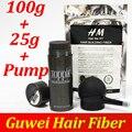 Polvo 27.5g botella de fibras Toppik hair building fibers aplicador de pulverización/bomba agregar relleno bolsa 100g del pelo fibras 3 unids/lote
