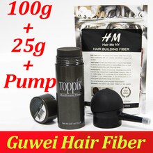 Toppik волосы здание волокон порошок 27.5 г бутылка волокна спрей аппликатор/насос добавить запасной мешок 100 г волос, волокон 3 шт./лот