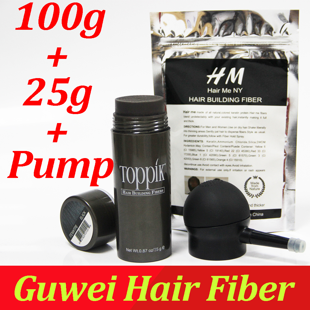 best hair treatment shop Toppik hair building fibers powder 27.5g bottle fibers spray applicator/pump add refill bag 100g hair fibers 3pcs/lot