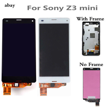 LCD para SONY Xperia Z3 pantalla táctil compacta con marco Z3 Mini D5803 D5833 para SONY Xperia Z3 pantalla compacta de 4,6 pulgadas