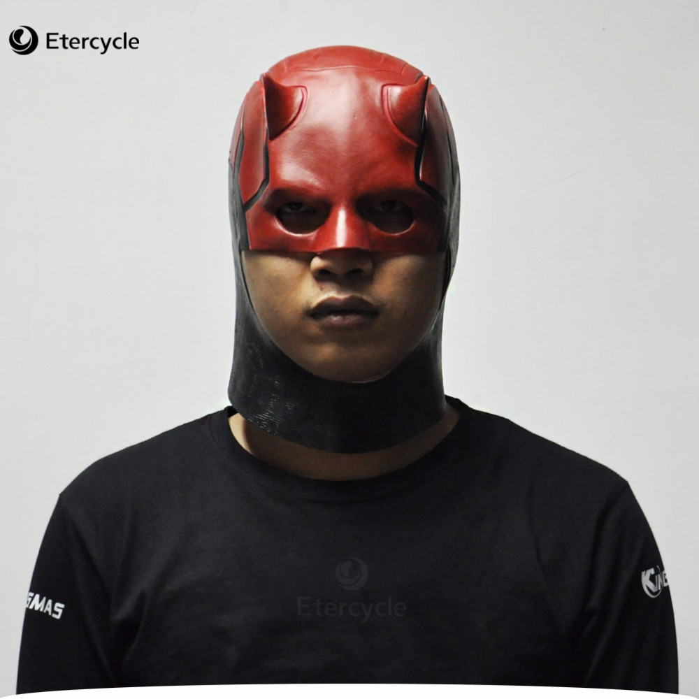 Daredevil Masks Marvel Leksaker Movie Cosplay Collectible ToysCostume Prop Män Latex Party Mask för Halloween