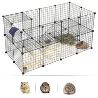 For Sell Wire Mesh Pet Cage Pet Fence Small Dog Teddy Dog Cage Cat Rabbit Cages Multi Function Fence Iron Cage DIY Combination