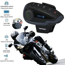Cycling Full Duplex Walkie-talkie 5 People Smart Chip Wireless Motorcycle Helmet Fm Radio V8