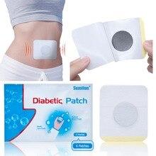 6 adet/torba diyabet yama azaltmak yüksek kan şekeri diyabet yama ilaçlar doğal otlar diyabetik alçı
