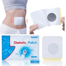 Sumifun 6pcs/Bag Diabetes Patch Stabilizes Blood Sugar level balance Blood Glucose Patch Natural Herbs Diabetes Patches