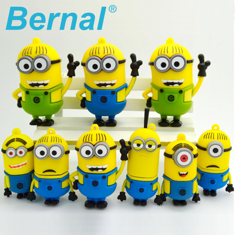 Fashion Cartoon Despicable Me usb usb flash drive pendrive usb stick 64gb 32 gb pendrive ...