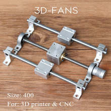 Guide rail kits T8 Lead Screw 400mm+Optical axis 400mm+KP08 bearing bracket+screw nut housing mounting bracket for 3D printer