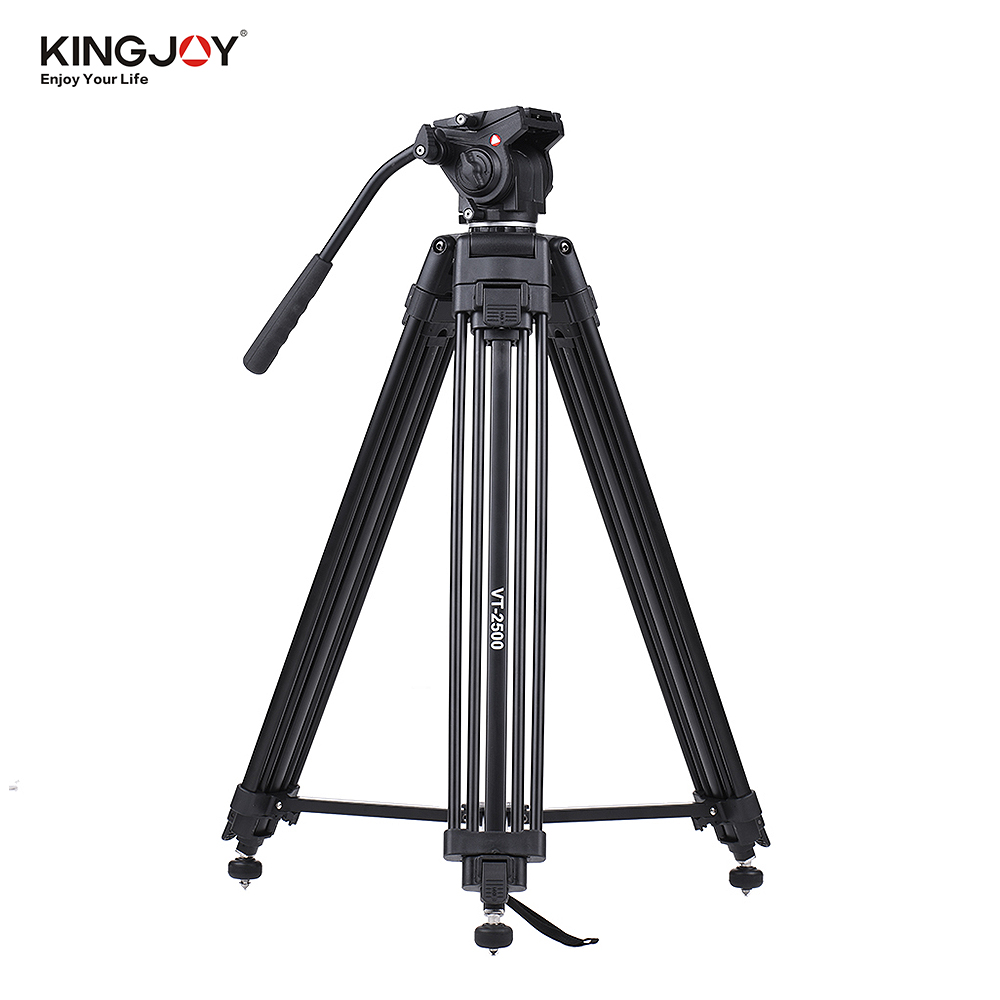Kingjoy VT 2500 152cm 5ft Camera Camcorder Tripod with 360 Fluid Damping Head for Canon Nikon