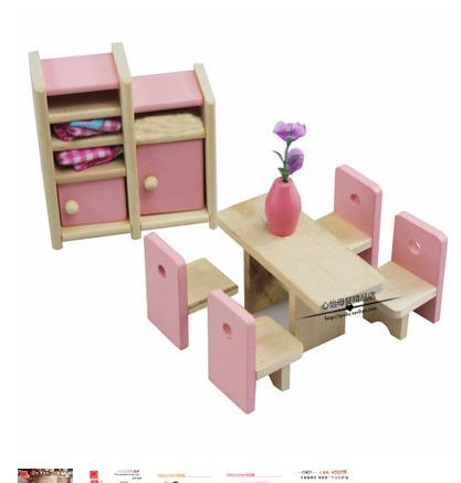 de madera muebles de casa de muecas de color rosa nios juegos de imaginacin de juguetes
