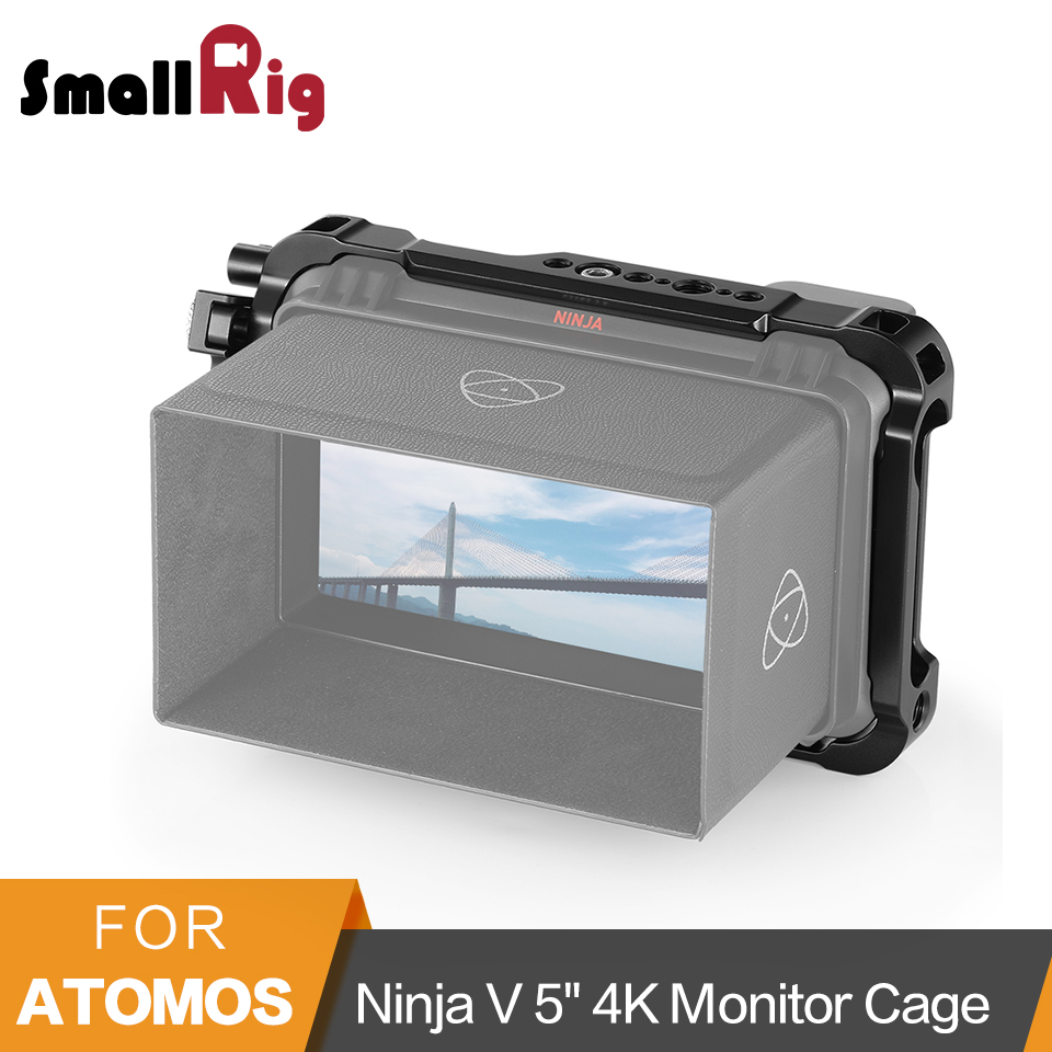 "SmallRig Form-fitting Cage For Atomos Ninja V 5"" 4K HDMI Recording Monitor Cage With Built-in NATO Rails HDMI Cable Clamp -2209"