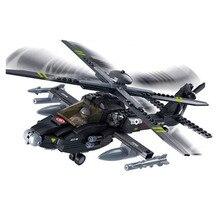 293 piezas AH-64 Apache Compatible Legoings ciudad DIY cifras ladrillos juguetes educativos para los ninos regalos de cumpleanos цена в Москве и Питере