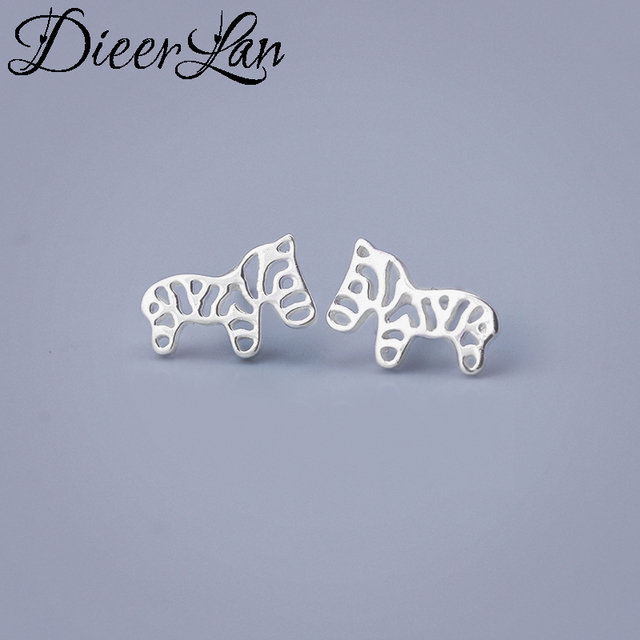 Lovely 925 Sterling Silver Horse Earrings For Women Fashion Jewelry Penntes